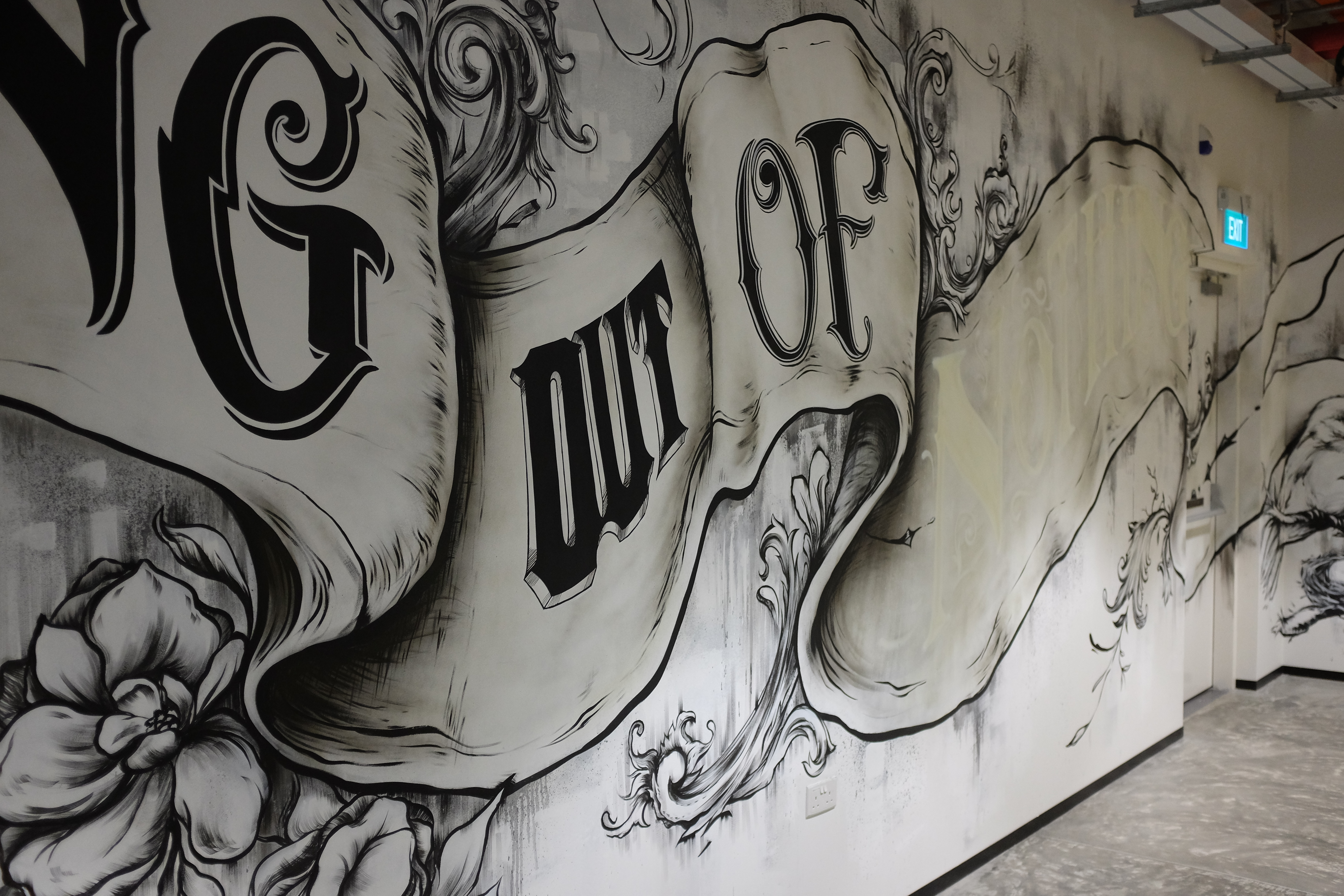 LETTERING MURAL FOR FACEBOOK SINGAPORE OFFICE – DIV HQ